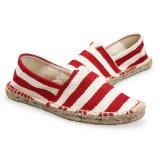 Sapata de lona unisex ocasional da alta qualidade dos Loafers de Brown das sapatas na moda