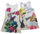 소녀 소매 없는 t-셔츠 조끼 (SV-018-023)에 있는 형식 아이 옷