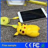 Pikachu Pokemons gehen bewegliche Batterie der Energien-Bank-10000mAh mit LED-Licht