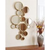 가정 훈장 도매를 위한 최신 판매 둥근 나무 짜맞춰진 벽 미러