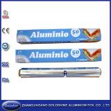 Papel de embalagem econômico para uso doméstico em folha de alumínio