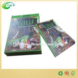 Tipo de material de papel Caixa de armazenamento de livros com impressão colorida de Shenzhen (CKT-CB-165)