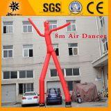 Danseur gonflable rouge d'air de jambes du géant 8m double (BMSD36)