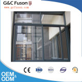 Constructeur coulissant en aluminium de Finshed Windows de surface en bois différente de couleur dans Guangzhou