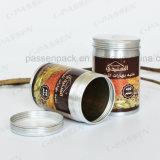 400ml het Blik van het Tin van de Thee van het aluminium met Druk Silkscreen op Deksel