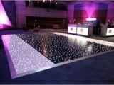 LED-schwarzer Tanzboden mit Stern-Lichteffekt