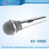 Микрофон Cardioid крышки динамического микрофона Karaok провода весь стальной сетчатый