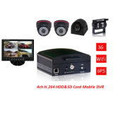GPSの移動式DVR Car DVR 2 Channel 4 Channel