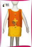 Tablier estampé par giraffe de travail de cuisson de cuisine des enfants 100%Cotton
