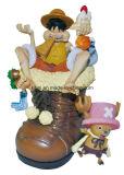 Nombre d'actions en plastique jouets de PVC de dessin animé de vinyle de Luffy de pirate de bébé