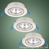 Twist Lock Ring Alumínio ajustável GU10 Recessed Ceiling LED Downlight