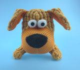 Giocattolo del cane di animale domestico della peluche del Brown con Squeaker all'interno