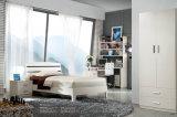 Jogo de quarto de madeira branco elegante no estoque para a venda (LB-015)