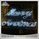 즐거운 성탄 편지 빛을%s 가진 고품질 장식적인 산타클로스