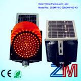 Regelmatig op Licht van de Lamp van de Flits van het Verkeer van de Hoek van de Straat het Zonne LEIDENE Gele Opvlammende van de Waarschuwing/