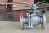 La norme ANSI a bridé robinet à tournant sphérique de flottement d'acier inoxydable