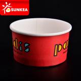 Tazas de helado de papel encerado personalizado