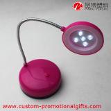 Lámpara de escritorio flexible redonda plástica de la batería LED de la flexibilidad