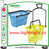 100% novo PP Plastic Supermarket Hand Shopping Basket