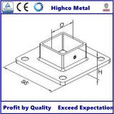 Bride de base carrée pour la balustrade en verre de balustrade de pêche à la traîne