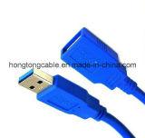 여성에게 고속 파랑 USB 3.0 연장 케이블 남성