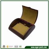 Caixa de relógio de madeira marcada do preço de fábrica para o presente