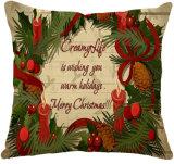 """Het geïmiteerde"""" Kussen van het Ontwerp van het Kussen van het Karton van Kerstmis van de Stof van de Zijde Vrolijke Kleurrijke"""
