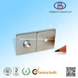 30X30X3-D5常置ネオジムの極度の強いさら穴の穴の磁石