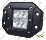 Lumière affleurante de travail du CREE LED du bâti 18W outre de lumière d'entraînement de route
