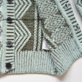 Qualität gestrickte Jungen-Wolljacke-Strickjacke