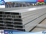 Canaleta de aço Pre-Galvanizada do perfil C para o frame de aço (SSW-CC-001)