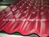 Galvanisiertes Farben-überzogenes Metalldach-Blatt/Farben-überzogene Jobstepp-Fliese