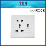Socket de pared universal 5V 110V-250V con el socket de pared doble del USB