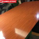 A resistência ao teste padrão de madeira material da pressão Prepainted a bobina de aço