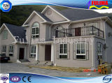 Villa prefabbricata chiara moderna della struttura d'acciaio (FLM-H-020)