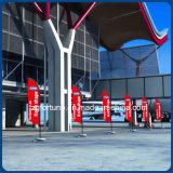 Indicateur de plage de publicité fait sur commande d'indicateur de clavette de drapeau de vol de promotion extérieure de prix usine