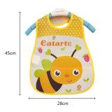 エヴァの子供の自己の挿入の心配のための防水昼食の胸当てのげっぷの布