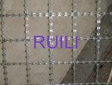 溶接されたかみそりの有刺鉄線の網の塀