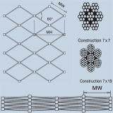 Virola de acero inoxidable tela metálica de la cuerda