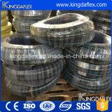 Boyau blindé En857 2sc de tuyau de boyau en caoutchouc résistant en caoutchouc flexible de pétrole