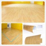 Vinyle UV de l'enduit 2.0mm parquetant le plancher imperméable à l'eau de PVC de biens