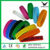 Bracelet fait sur commande bon marché de silicone de logo