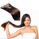 Extensão do cabelo 100$ humano, cabelo de trama