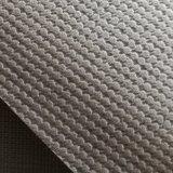 Cuoio di pattino grigio di cuoio dell'argento di stampa del PVC di certificazione dell'oro dello SGS