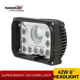 10 luz de conducción sellada viga de la linterna LED del LED Hi/Low (SM6053S-42W)