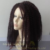 Afroamericano rizado Dreadlocks de la peluca de la torcedura del pelo sintetizado