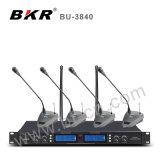 Bu3840 UHF 4チャネルの会議のワイヤレスシステム