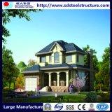 Villa modulaire préfabriquée d'acier de mesure de lumière de Chambre de deux étages