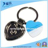 Förderung-Geschenk-Heart-Shaped unbelegter Sublimation-Schlüsselring
