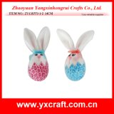 Décoration en bois de sélection de lapin de Pâques de la décoration de Pâques (ZY14C874-1-2-3-4)